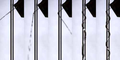 Synopsis: Liquid Jet Coils Around Cylinder