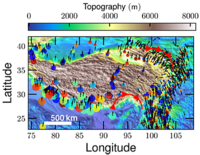 Turbulent lithosphere deformation in the Tibetan Plateau