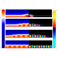 Bistability in Rayleigh-B\'enard convection with a melting boundary