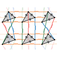 Topological Properties of Linear Circuit Lattices