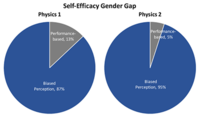 Female students with A's have similar physics self-efficacy as male students with C's in introductory courses: A cause for alarm?
