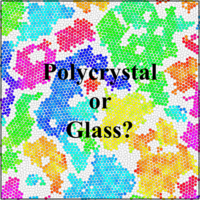 Compression-Induced Polycrystal-Glass Transition in Binary Crystals