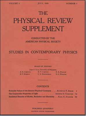 Physical Review Journals